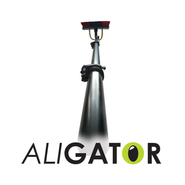 water fed pole, window cleaning pole, window cleaning brush, alligator pole, alloy pole