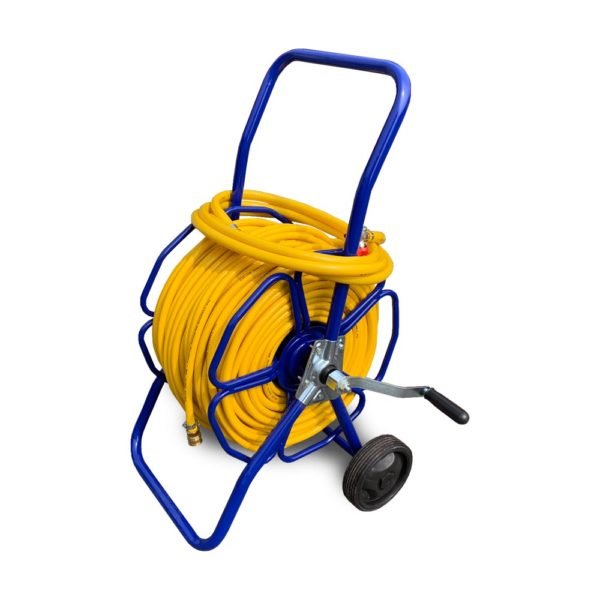Steel Hose Reel Complete with Hose